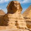 Sfinga a pyramídy v Gíze