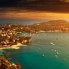 Očarujúci západ slnka v Nice