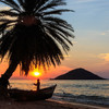 Západ slnka nad Malawi