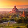 Východ slnka nad Baganom - Mjanmarsko