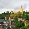 Pagoda Shwedagon v meste Rangún - Mjanmarsko