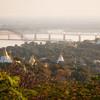 Výhľad z vrchu Sagaing v meste Mandalay - Mjanmarsko