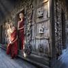 Mjanmarskí novici v meste Mandala - Thajsko