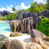 Pláž Anse Source d´Argent na ostrove La Digue
