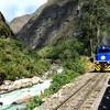 Železničná trať pri rieke Urubamba
