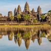 Typický pohľad na Angkor Wat