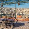 Výhľad na Medinu z terasy