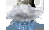 malá oblačnosť s búrkami