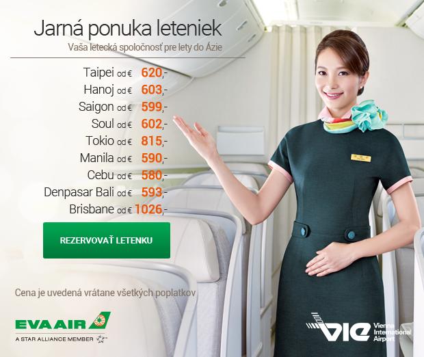 Jarná ponuka leteniek EVA Air