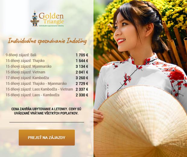 Indočína - poznávacie zájazdy Golden Triangle